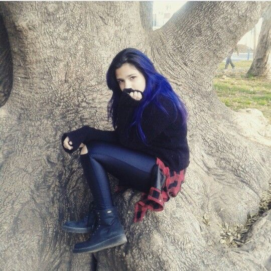 Goth and blue hair