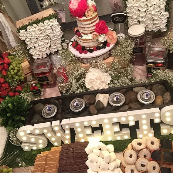 candy bar  smores bar  table centerpiece / by primitivearts