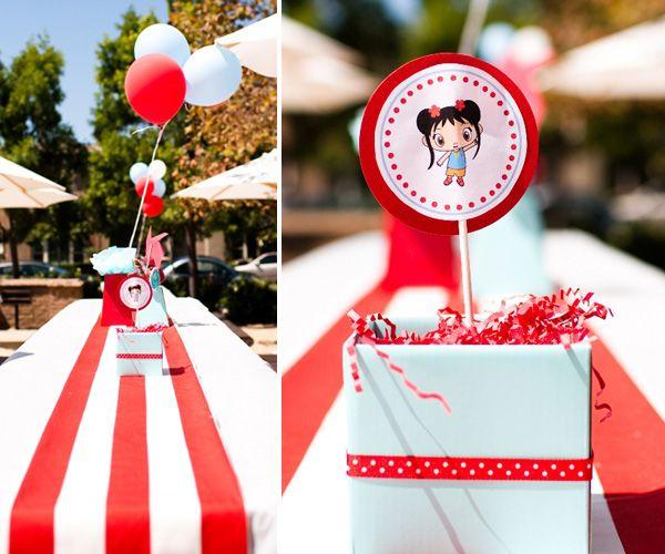 """Red & Aqua """"Ni Hao Kai-Lan"""" Birthday Party // Hostess with the Mostess®"""