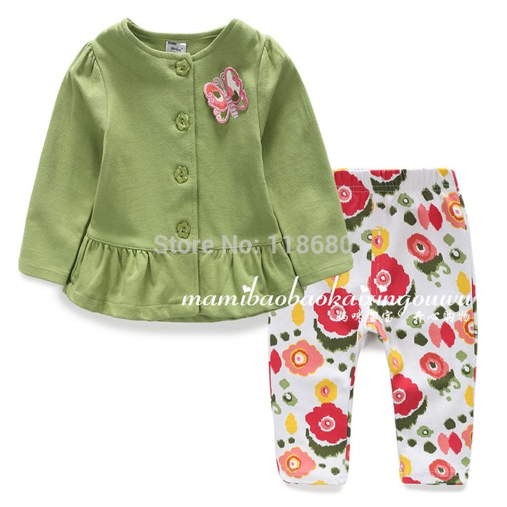 >> Click to Buy << new 2015 spring and autumn children clothing sets baby girls Long sleeve cardigan coat + kids flowers pants 2pcs sets #Affiliate