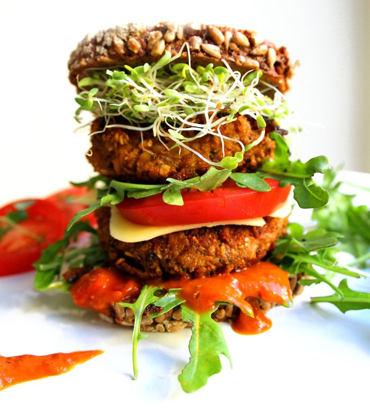 Oppskrift Søtpotetburger Vegansk Hjemmelaget Kjøttfri Vegetar Burger Bønner Ris
