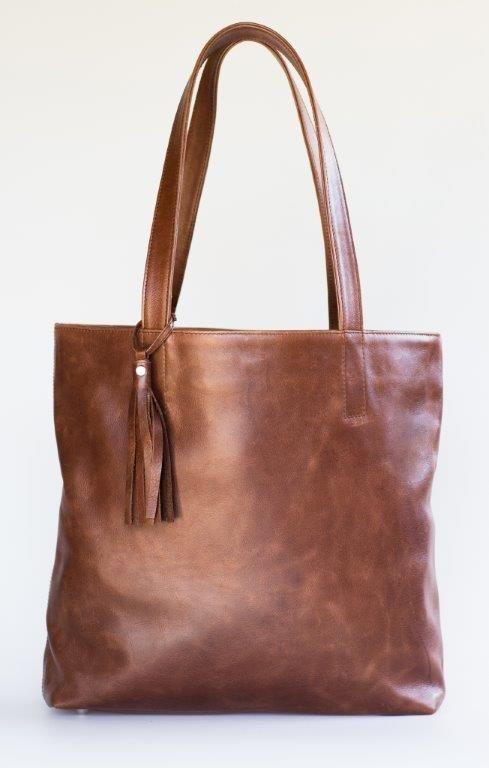 Mally brown leather tote handbag