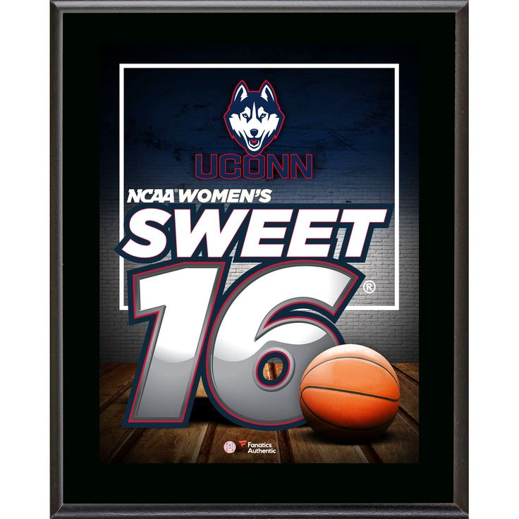 "UCONN Huskies 10.5"" x 13"" 2016 NCAA Women's Basketball Tournament Sweet 16 Bound Sublimated Plaque - $23.99"