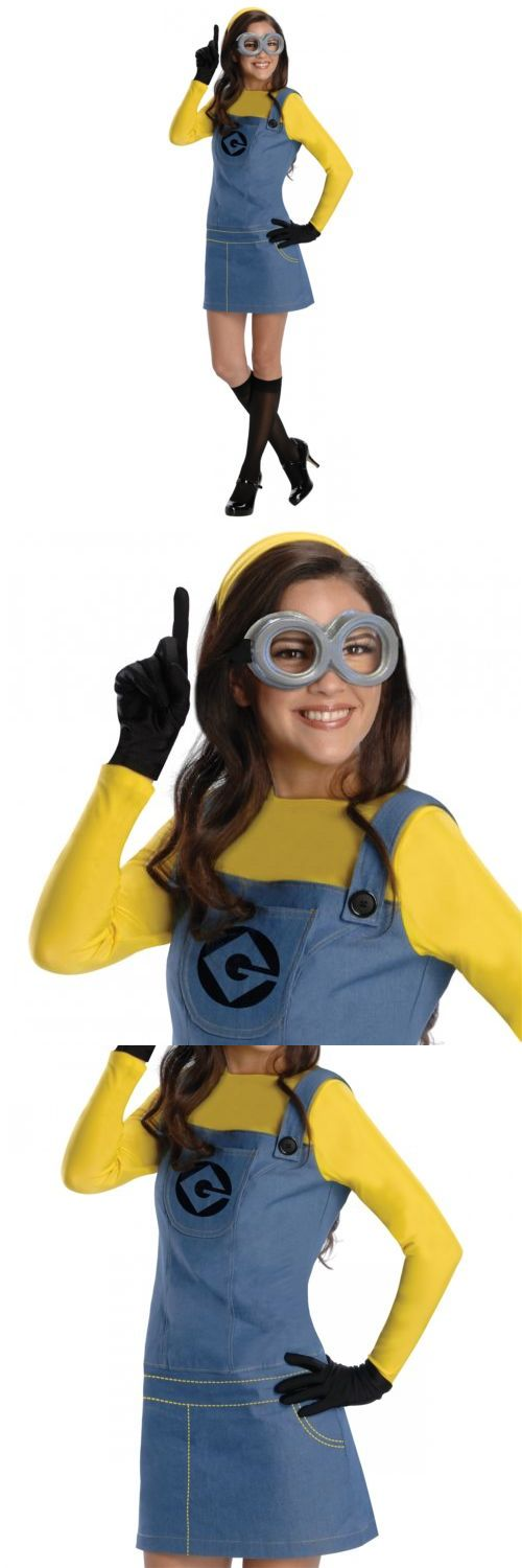 Halloween Costumes Women: Female Minion Costume Adult Funny Halloween Fancy Dress BUY IT NOW ONLY: $33.89