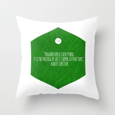 Imagination Is Everything Throw Pillow by Growing Ideas - $20.00