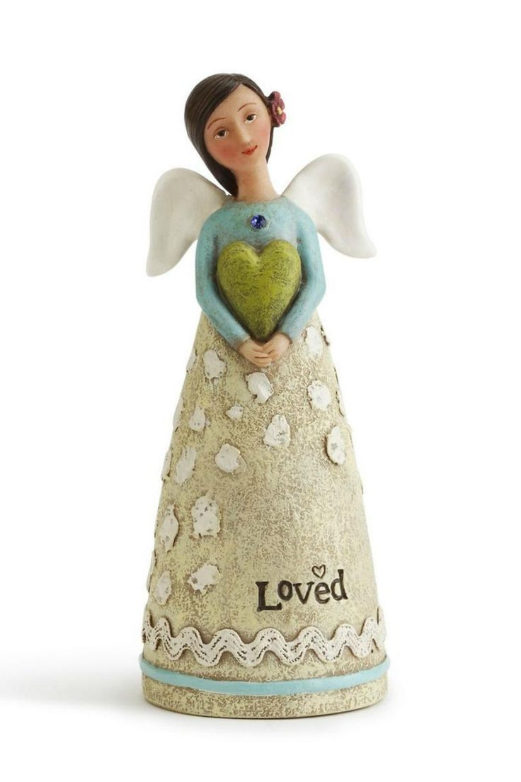 """Birthday angel with a sentiment at the bottom of the skirt.    Measures: 2"""" x 4.5""""   September Birthday Angel by Kelly Rae Roberts by Demdaco. Home & Gifts - Home Decor - Decorative Objects Ohio"""