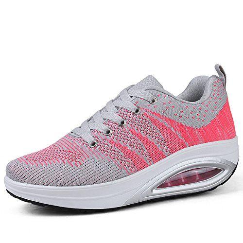 de mujer Go Walking Obtener para Zapatillas Deporte Zapatos Atlético Caminar Zapatos Deporte Gimnasio dek - Rosa, 36