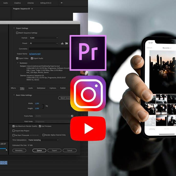 Best export settings in premiere pro for youtube and