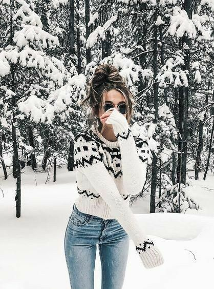 Teddy Coat cute winter outfit for everyday , jacket , shirt , blue jeans , prett…