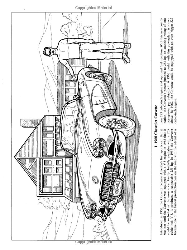 American Muscle Cars, 1960-1975 (Dover History Coloring ...