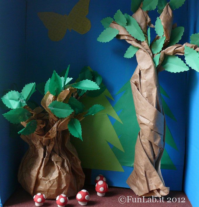 The Enchanted Forest diorama. Try it out with your kids and see what fun things your cubs add to their personalized habitats. How to @ http://blog.funlab.it/en/2012/06/mommy-what-is-a-habitat-wwf-and-funlab/