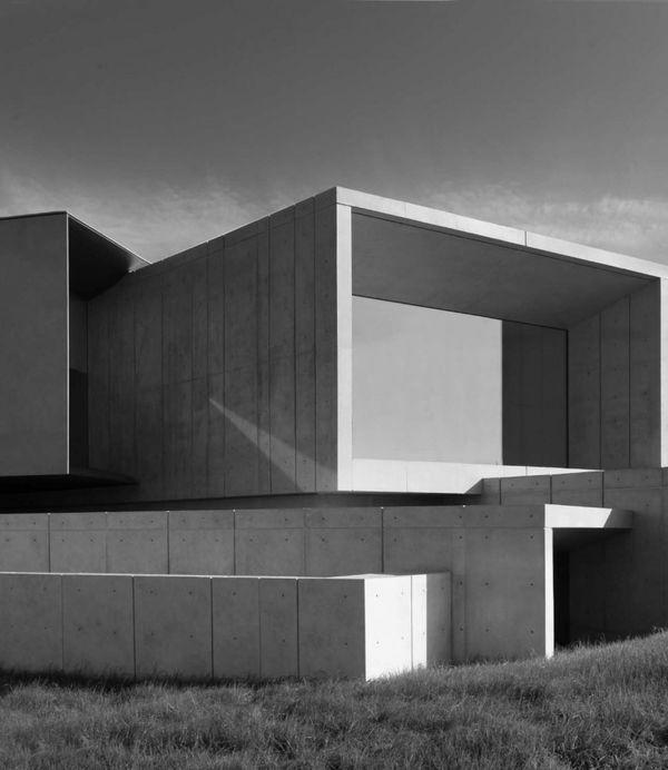 Concrete architecture, Hoki Museum in Midori-ku, Chiba, Japan