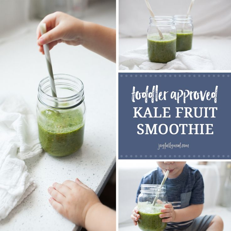 This toddler approved kale fruit smoothie is the perfect summer treat! It's packed with fruits and vegetables, refined sugar and dairy free, and so tasty!