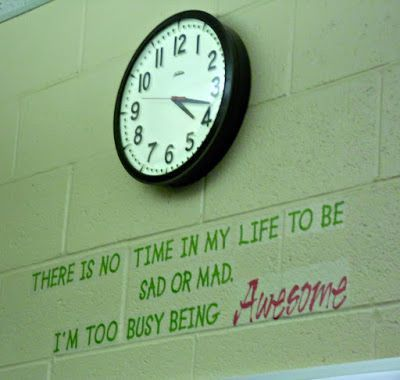Great clock saying for an upper elementary, middle school, or high school classroom!
