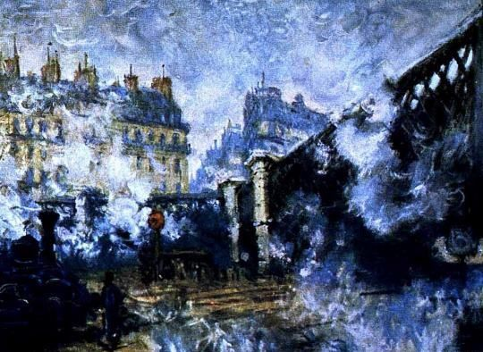 La Gare Saint-Lazare by Claude Monet 1877