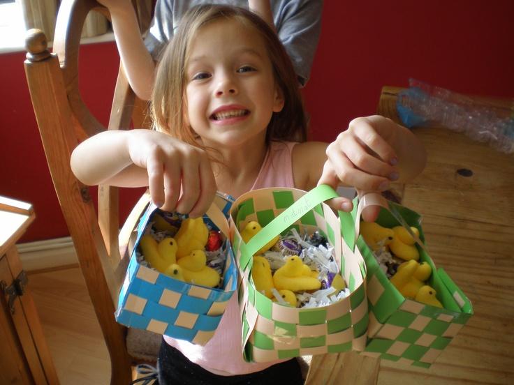 Making Easter baskets with my daughter #PortlandSpringtime