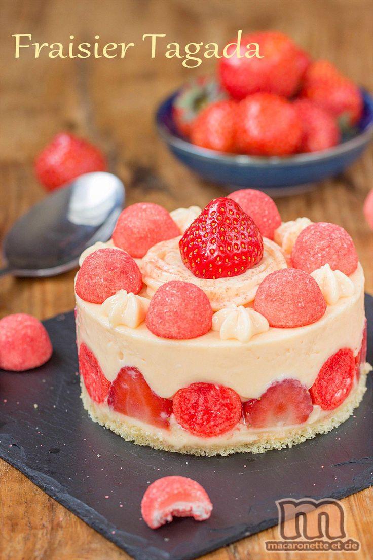 Fraisier totalement régressif aux fraises Tagada - Mon dessert régressif du Salon du Chocolat 2013 - Macaronette et cie