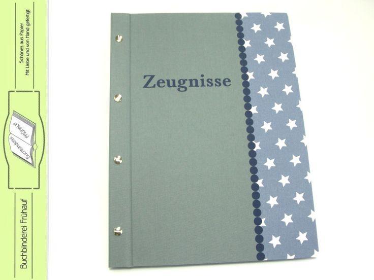 Weiteres - Zeugnismappe Sammelmappe für Zeugnisse Sterne - ein Designerstück von BuchbindereiFruehauf bei DaWanda