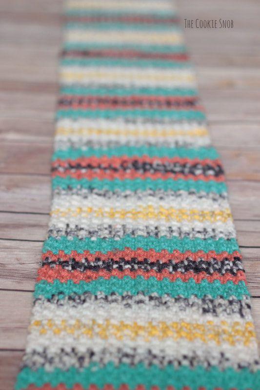 Simple Striped Scarf Free Crochet Pattern Original Patterns