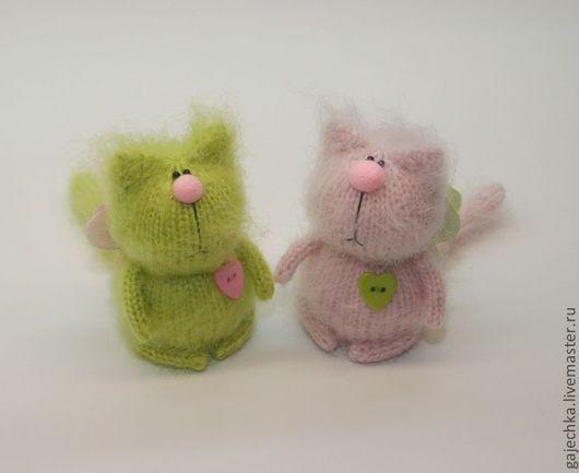 Игрушки животные, ручной работы. Ярмарка Мастеров - ручная работа. Купить Салатово-розовые  коты. Handmade. Салатовый, кот