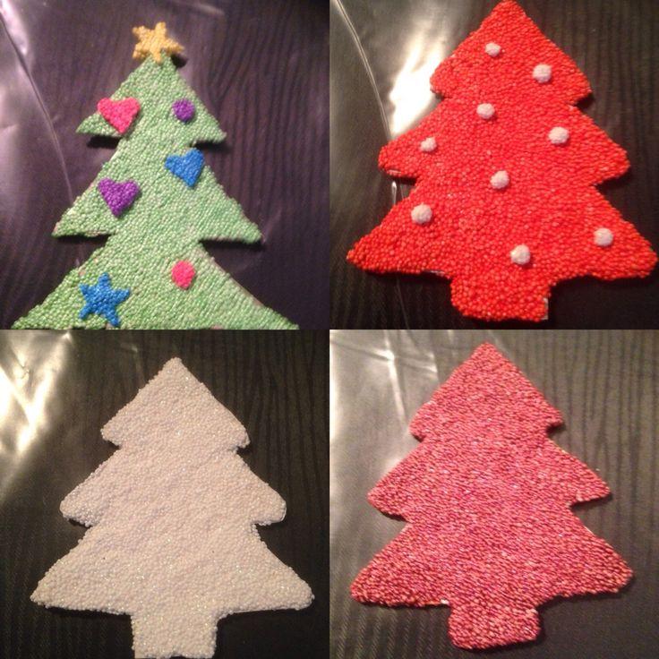 Juleophæng i foamclay på pap