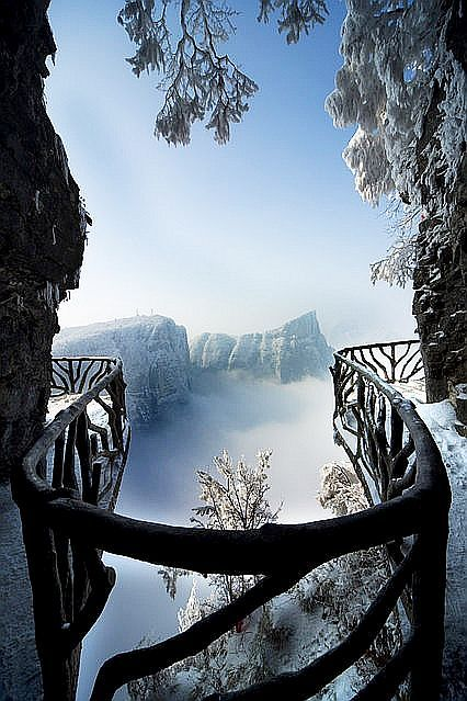 Lofty View of Tianmen Mountain, China