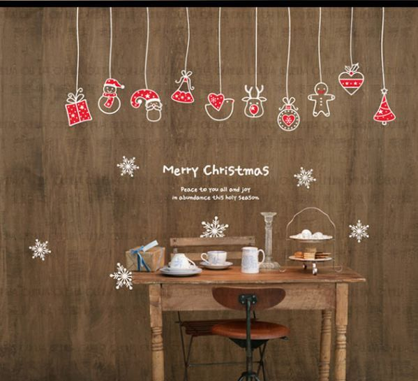 Christmas Decoration Mural Art Wall Window Deco DIY by minitoba