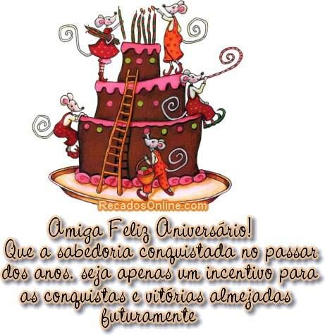 Bolo Amiga Feliz Aniversário #felicidades #feliz_aniversario #parabens