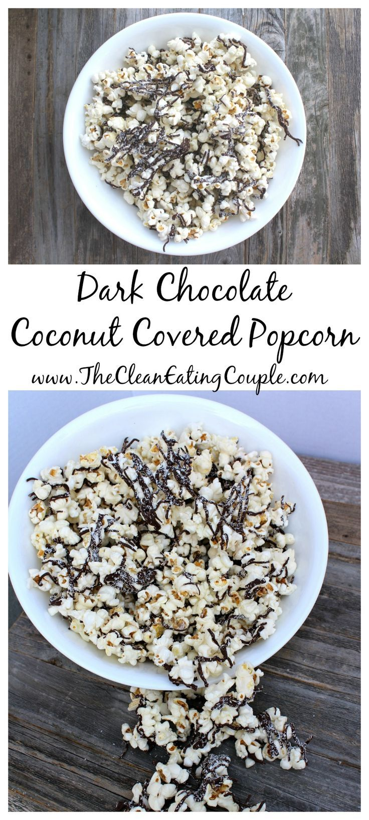 Dark Chocolate Coconut Covered Popcorn is the perfect dessert or snack for your sweet tooth. This recipe is vegan, gluten free and SO delicious!