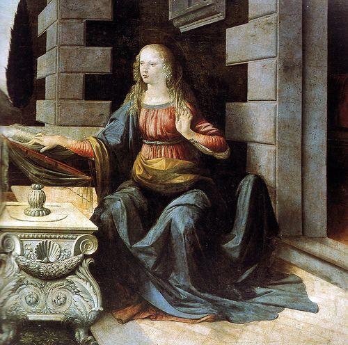 Leonardo Da Vinci - Annunciation at Uffizi Gallery Florence Italy #TuscanyAgriturismoGiratola
