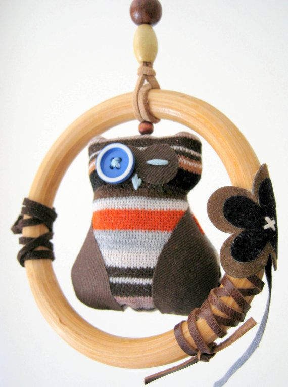 I have my eye on you Owl in perch mini mobile for by boutique789, $24.95