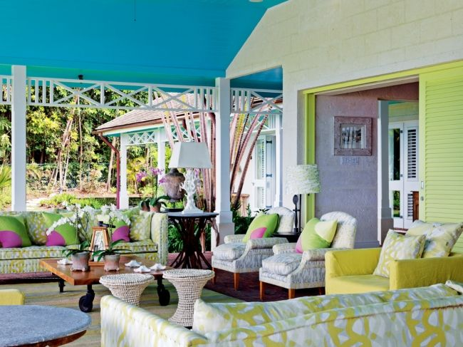 House Tour Inside Designer Kit Kemps Vividly Coloured Barbados Home Kemp Goes