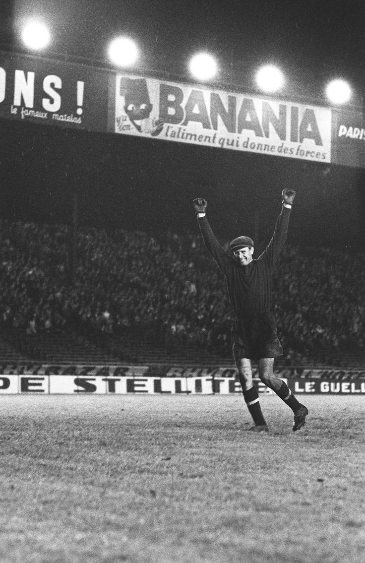 Lev Yashin celebrates USSR's win over Yugoslavia in the first European Championship, 1960.