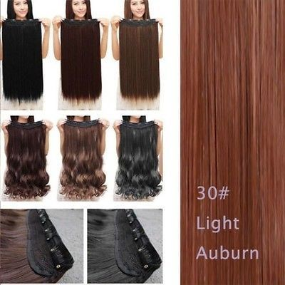 Real Thick 1pcs Clip in 3/4 Full Head Hair Extensions Extension as human hair f7 $7.99 eBay