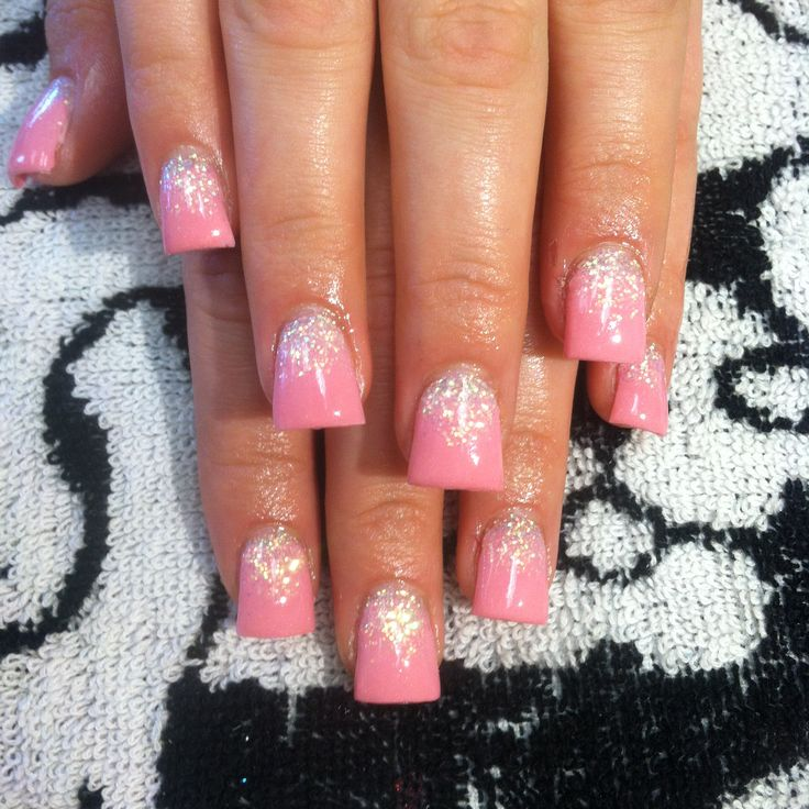 355 best flare beautys images on pinterest acrylic nail designs sparkley pink flared nails follow me on ig at adrisnails prinsesfo Images
