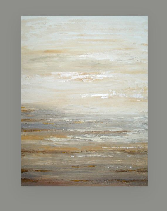 "Painting Abstract Acrylic Art on Canvas Titled: Quiet Light 4 30x40x1.5"" by Ora Birenbaum"