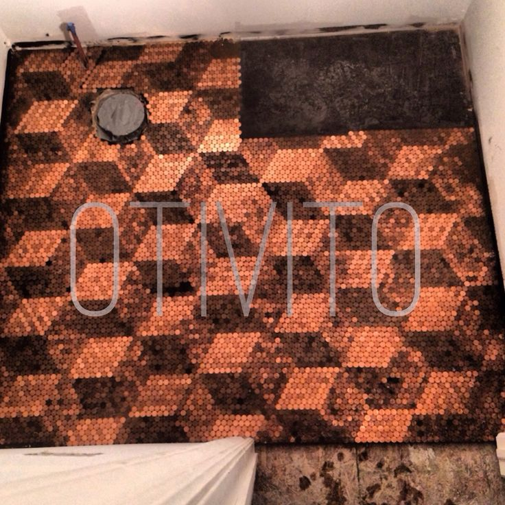 Penny Flooring, Copper Penny And Penny Table