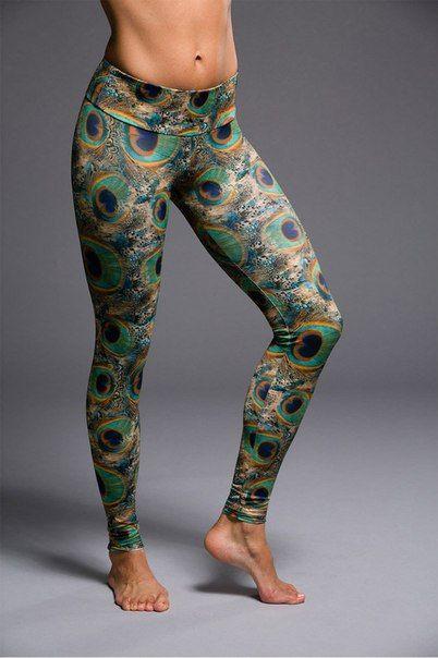 Леггинсы для йоги и фитнеса ONZIE Long Legging Peacock Green