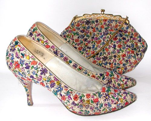 Vintage Chic: 1960s Rayne Shoes & Matching Handbag