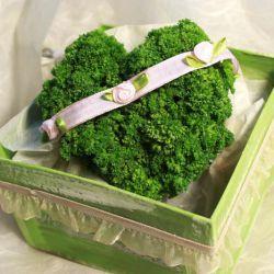 Petersilienhochzeit-Geschenk: Ein Herz aus Petersilie