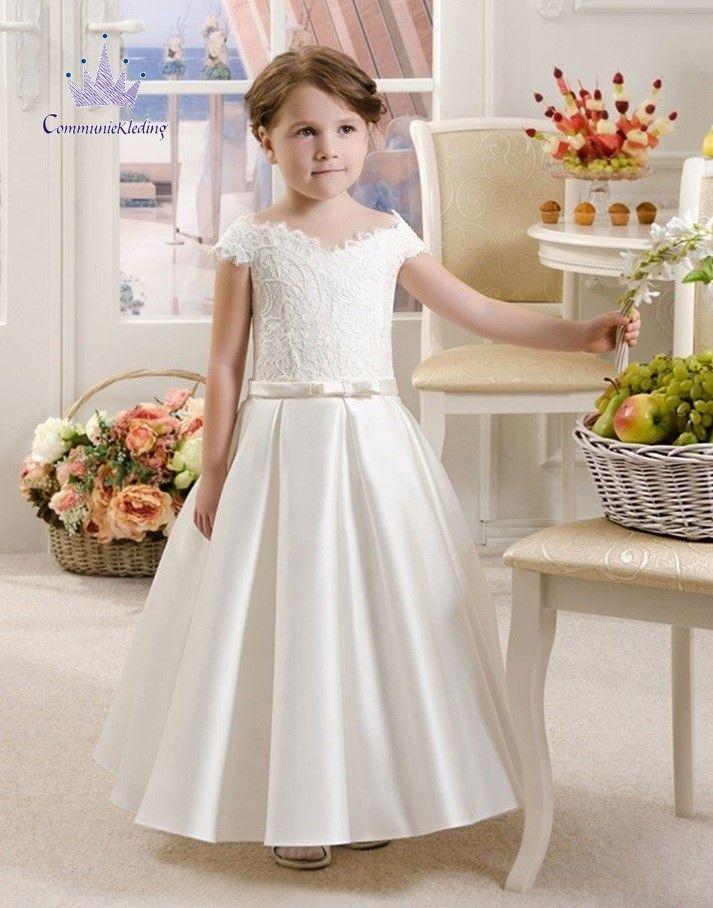 Communie jurk met klokkende rok