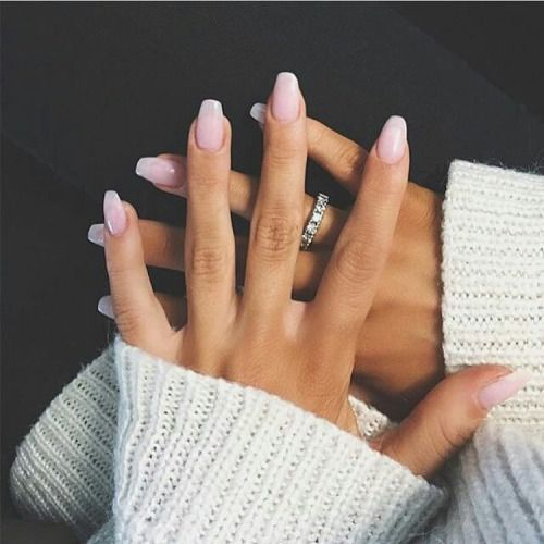 Pink and white solar gel nails <3 Seeds: pink nail pink nails white nail white nails solar powder gel nails french manicure nail nails style