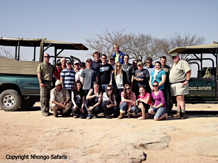 Group of Australians that have just been on safari with Nhongo Safaris in the Kruger National Park.