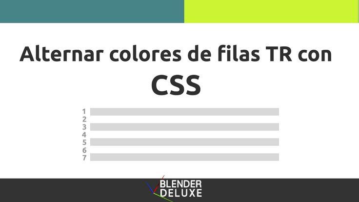 Alternar color de filas TR con CSS