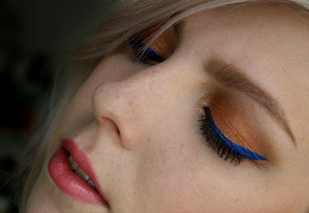 Dnešní Makeup: Blue and Copper