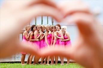 Brides hands around the girls