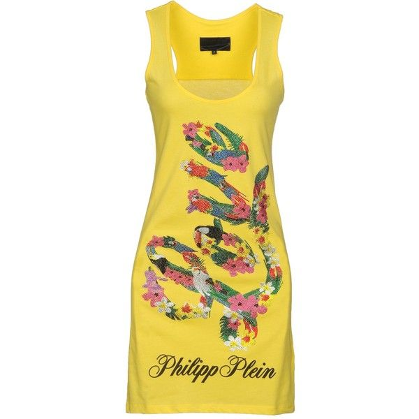 Philipp Plein Tank Top ($324) ❤ liked on Polyvore featuring tops, yellow, sleeveless jersey, sleeveless waistcoat, yellow vest, yellow jersey and sleeveless vest