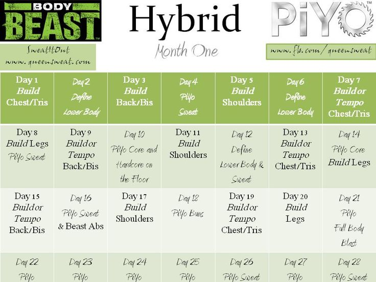 Best Fsy Hybrid Plans Images On   Exercise Routines