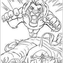 scary scar coloring page disney coloring pages the lion king coloring pages