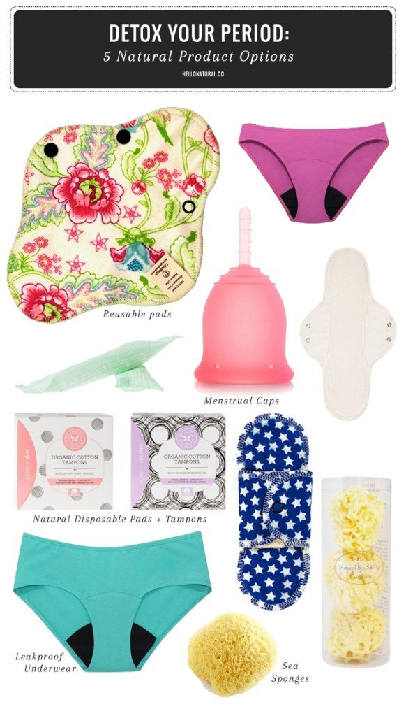 Detox Your Period: 5 Natural Menstrual Products